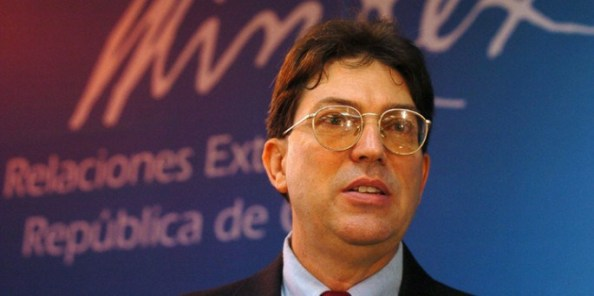 epa01653234 (FILE) A file picture dated 02 October 2006 showing Cuban Vice Chancellor Bruno Rodriguez Parrilla while taking part of a press conference in Havanna, Cuba. According to a Cuban Government press release 02 March 2009, Rodriguez Parrilla was dismissed from his post. Cuba replaced some of its most powerful and visible officials on 02 March 2009 including Vice President Carlos Lage and Foreign Minister Felipe Perez Roque. The shakeup, involving about 10 top officials, was announced at the end of the midday news broadcast by Cuba's supreme governing body, the Council of State.  EPA/ALEJANDRO ERNESTO